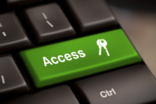 "Key on a keyboard labeled ""Access"""