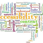 Word cloud with words related to web accessibility