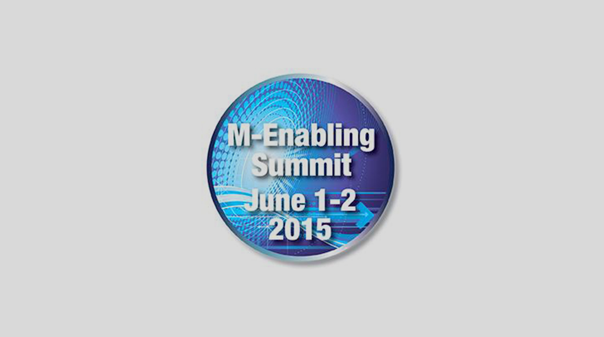 m-Enabling Summit, June 1-2, 2015