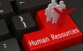 "Red key on a computer keyboard with text ""Human Resources"""