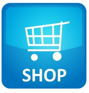 "App icon with a picture of a shopping cart and the word ""shop"""