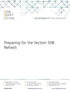 Section 508 Refresh Whitepaper Cover