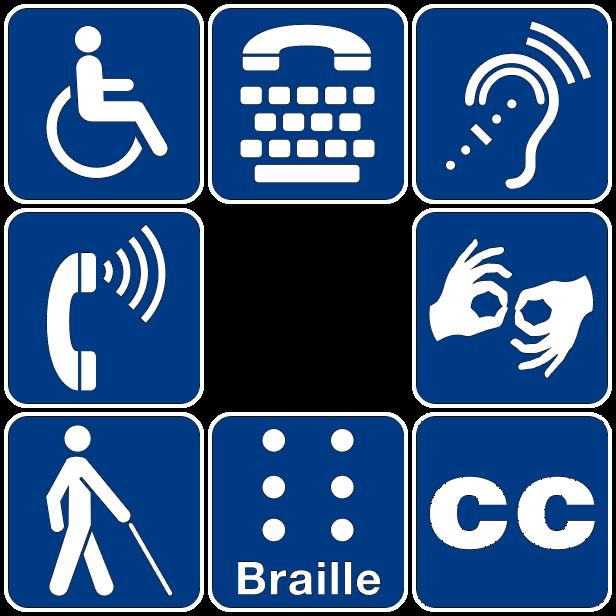 disability symbols arranged in a square