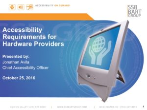Title Slide - Accessibility Requirements for Hardware Providers