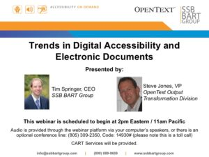 Trends in Digital Accessibility and Documents Webinar Title Slide