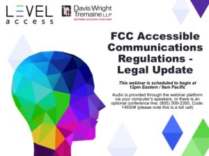 FCC Accessible Communications Regulations - Legal update title slide