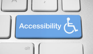 Accessibility Key with wheelchair icon on keyboard