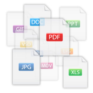 PDF and other document icons
