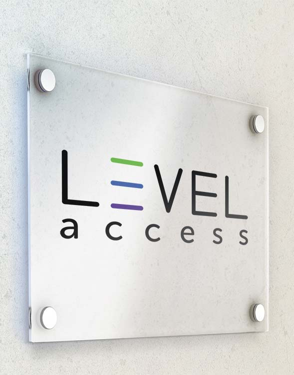 Level Access Door Sign