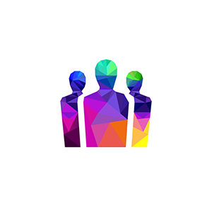 colorful outlines of people