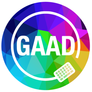 GAAD logo on colored background