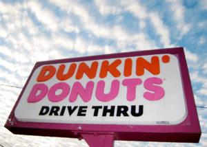 Photo of a Dunkin' Donuts marquee