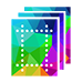 VPAT ICON - multiple sheets of paper icon with pattern on the front representing template