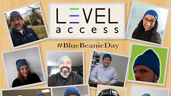 Blue Beanie Day Collage