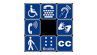 Disability access symbols