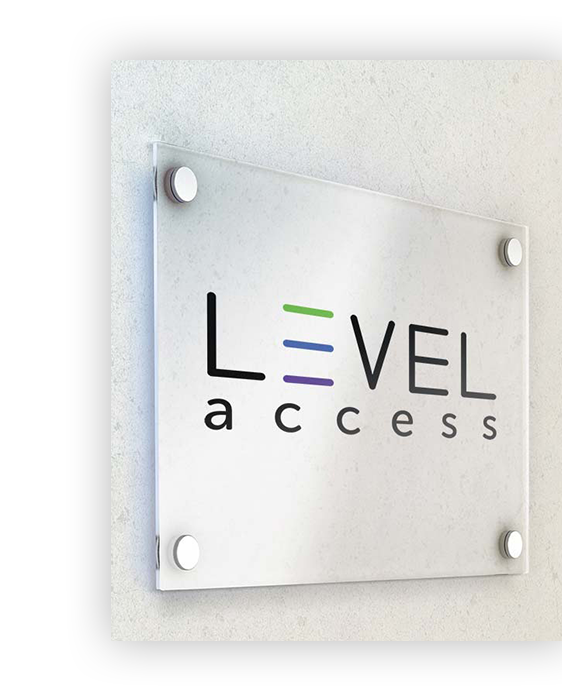 level access door sign logo
