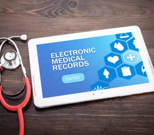 online medical records on an ipad