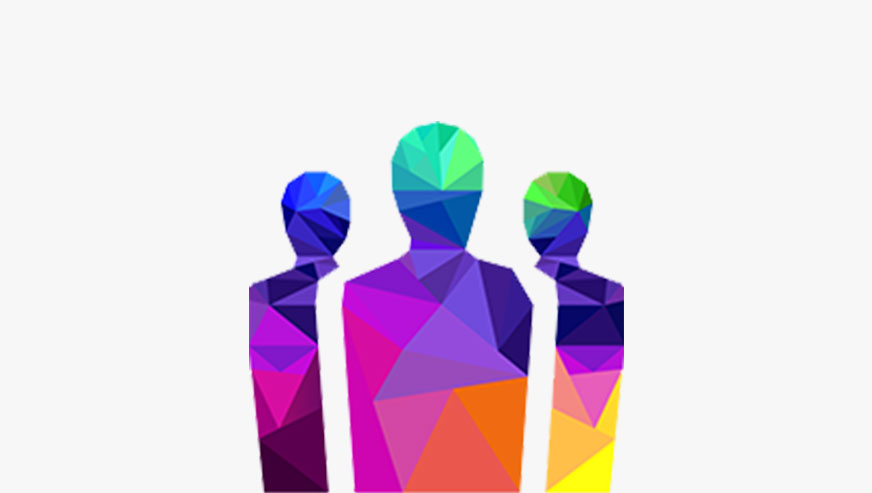 Colorful people outline