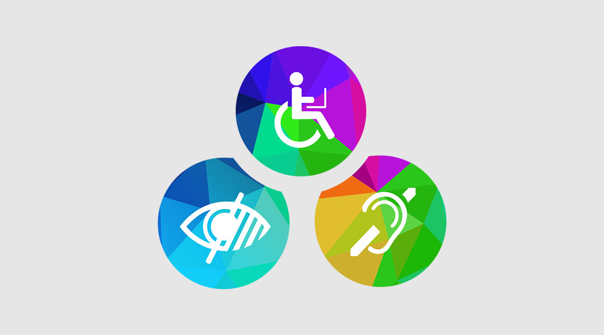 Digital accessibility includes those with visual, mobility, and hearing disabilities.