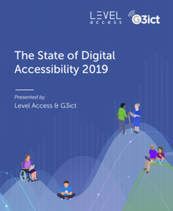 State of Digital Accessibility 2019 Report Cover Page, presented by Level Access and G3ict