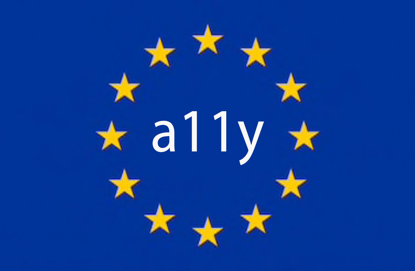 The EU logo with a11y printed in the center.