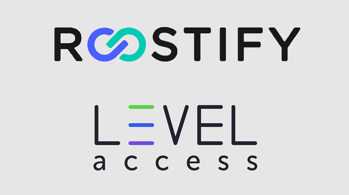 Roostify and Level Access logos