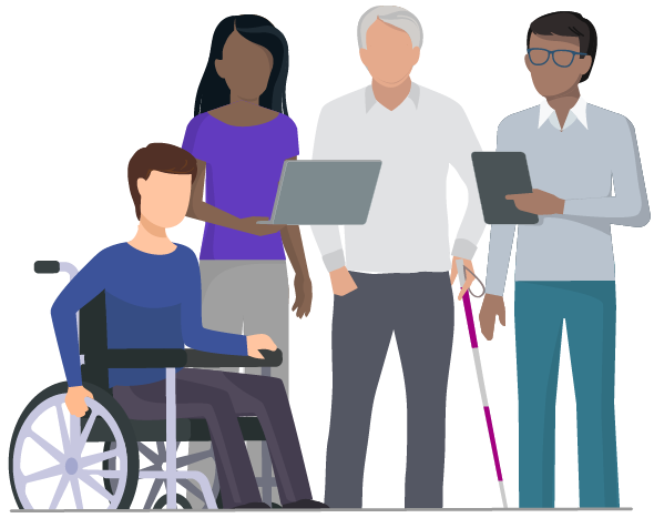 people with different abilities using technology