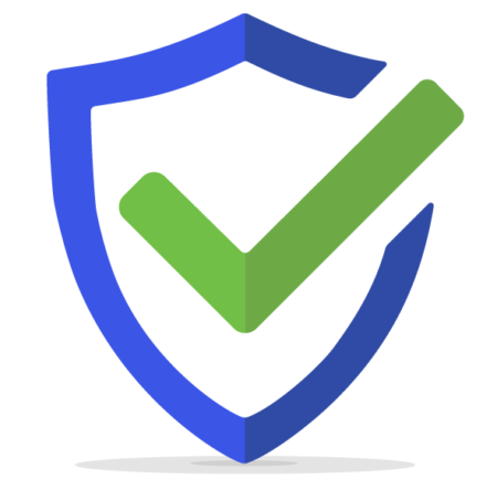 icon of a shield with check mark
