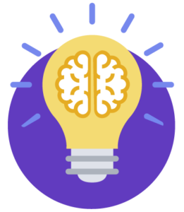 brain floating inside a bright light bulb