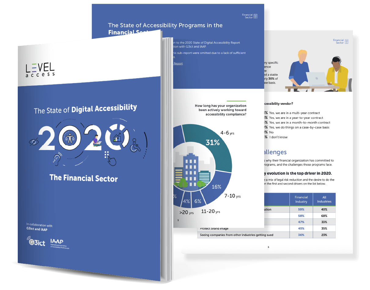 The 2020 State of Digital Accessibility in the Financial Sector Report