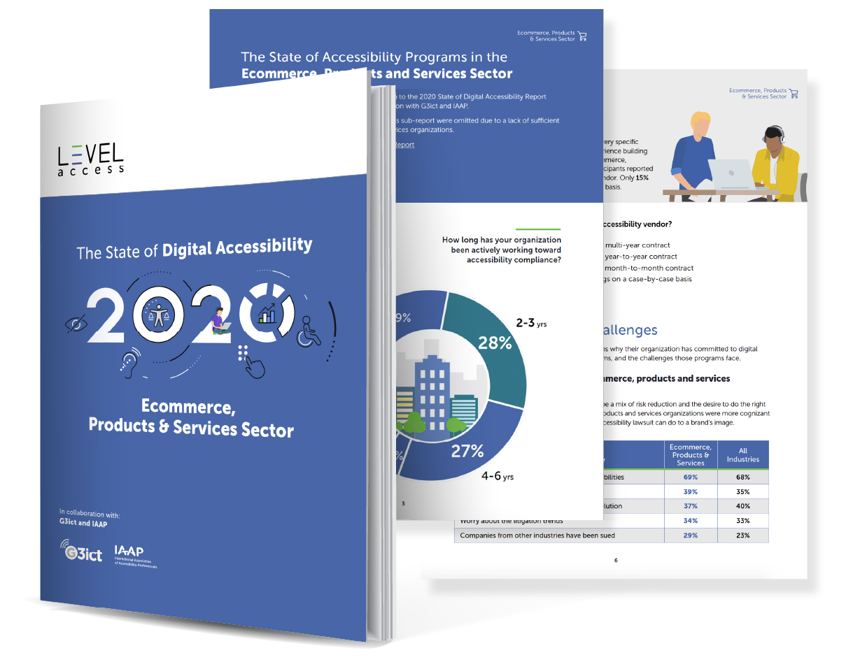 2020 State of Digital Accessibility Report - Ecommerce, retail, hotels, hospitality
