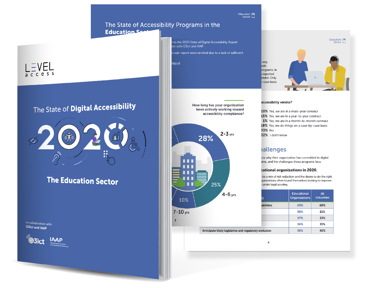 cover of education State of Digital Accessibility Report cover