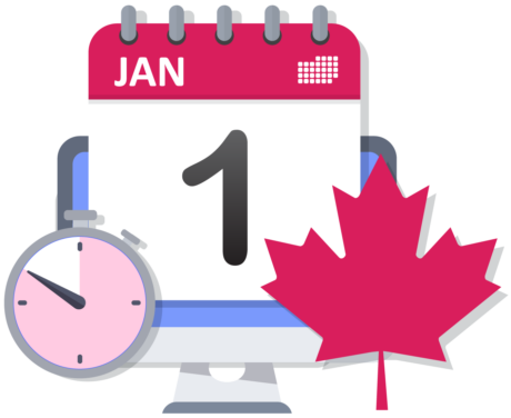 Calendar displays January 1 with a stopwatch timer counting down
