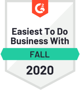 G2 recognized Easiest To Do Business With 2020