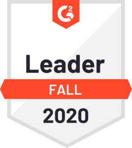G2 recognized Leader Fall 2020
