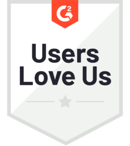G2 recognized Users Love Us 2020
