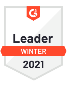 G2 Recognized Leader Winter 2021